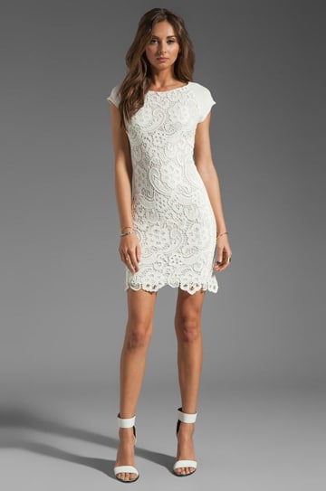 vestidos de novia a crochet corto