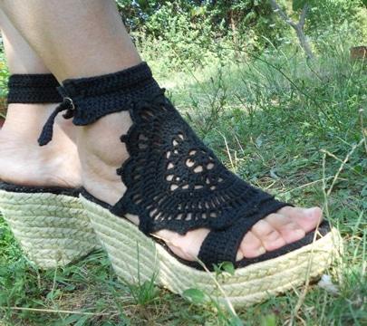zapatos tejidos para dama con tacones