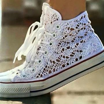 zapatos tejidos para dama converse