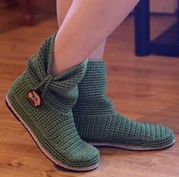 zapatos tejidos para dama tipo botines