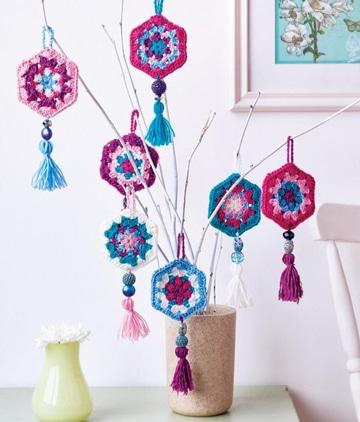 adornos a crochet para el hogar para florero)