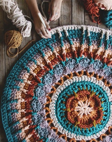 adornos a crochet para el hogar tapetes