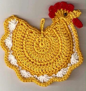 agarraderas tejidas al crochet de animales