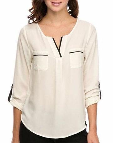 blusas de fiesta para señoras de chifon