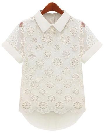 blusas en crochet japonesas con cuello