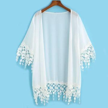 blusas en crochet japonesas tipo kimono