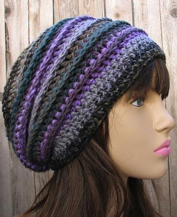 boinas en crochet sencillas de colores