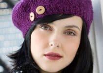 Las boinas en crochet sencillas, más femeninas que nunca