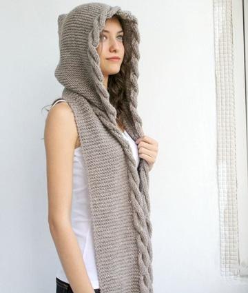 bufandas tejidas a crochet con gorro