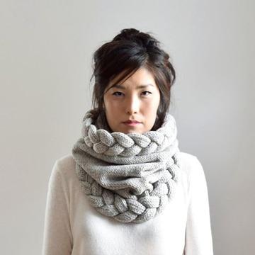 bufandas tejidas a crochet con trenza