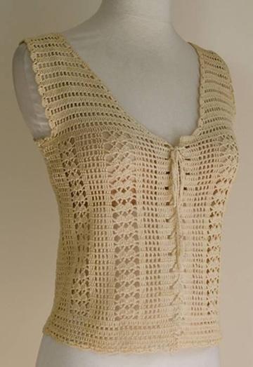 chalecos de hilo a crochet con boton