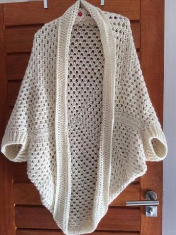 chalecos tejidos a crochet blanco