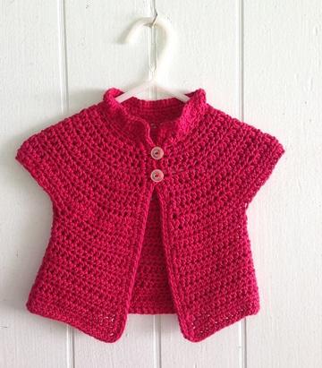 chalecos tejidos a crochet para niñas