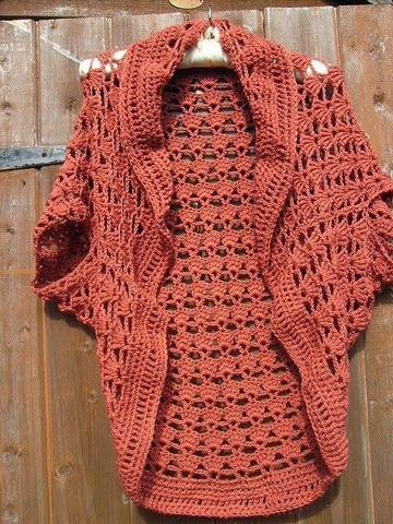 chalecos tejidos a crochet unicolor