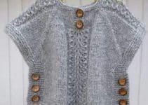 Los chalecos tejidos para niña, un básico de todos los tiempos