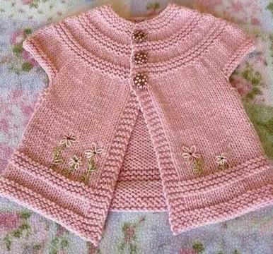 chalecos tejidos para niña pequeña