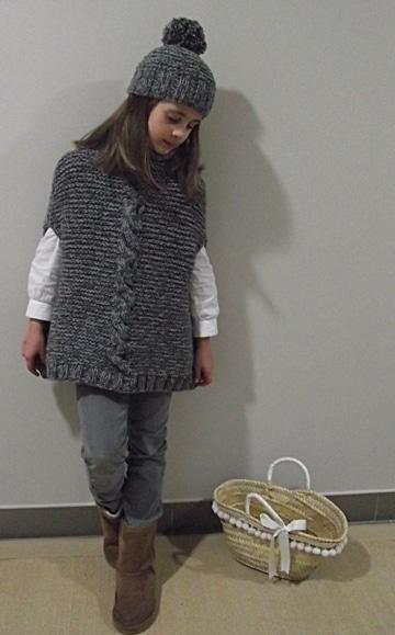 chalecos tejidos para niña unicolor
