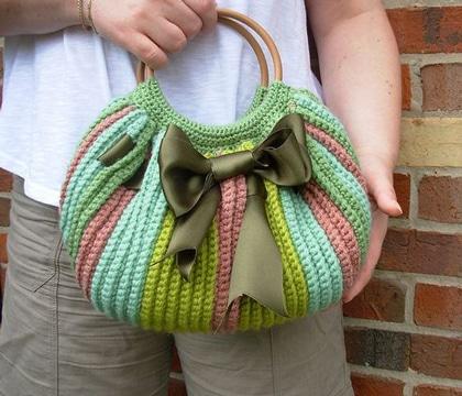 como hacer bolsos tejidos de mano