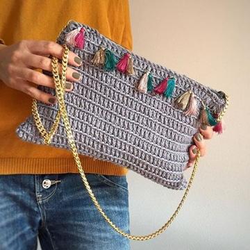 como hacer bolsos tejidos pequeños