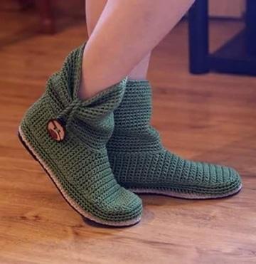 como hacer botas tejidas faciles