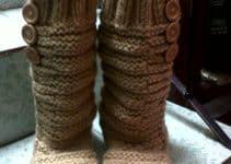 Ideas modernas sobre como hacer botas tejidas para ellas