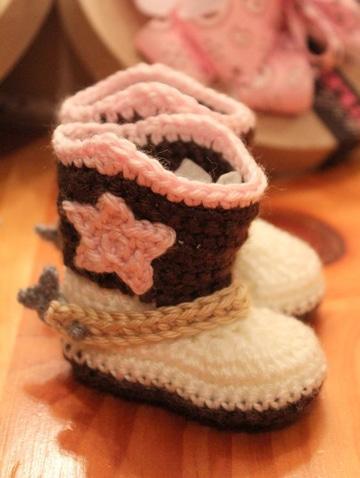 como hacer botas tejidas para niña
