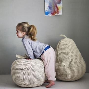 como tapizar un puff para niños