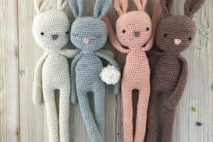 Los conejos tejidos a crochet, toda una suerte tenerlos