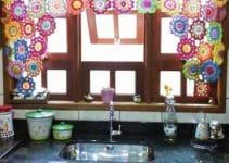 Las cortinas a crochet para cocina como no las has imaginado