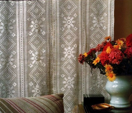 cortinas tejidas a gancho patron