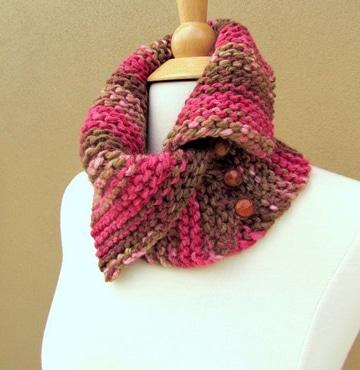 cuellos de lana tejidos a palillo para mujer