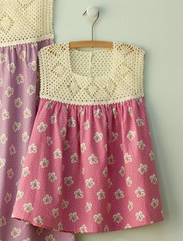 cuellos tejidos a crochet vestido niña