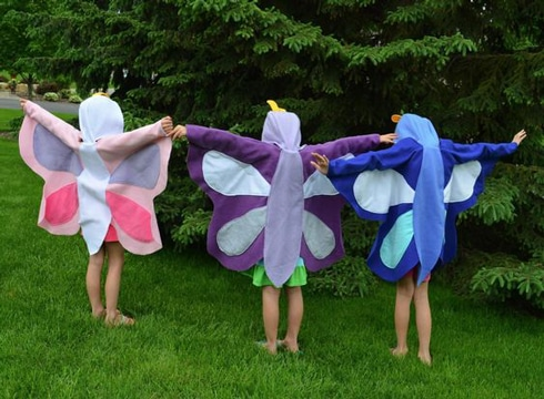 disfraces de maripositas de niña de tela
