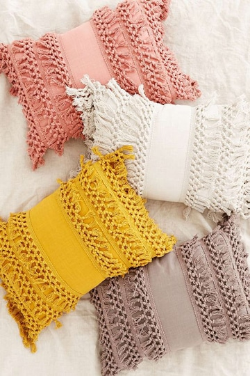 fundas para almohadas decoradas tejidas