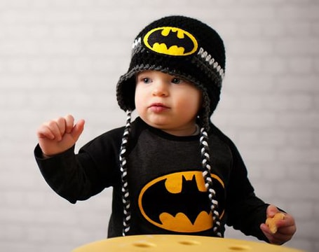 gorro tejido de batman para niños