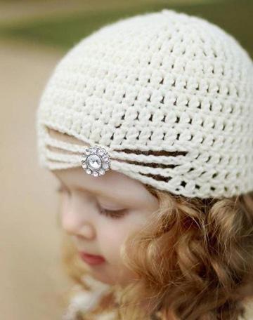 gorros para niña en crochet tiernos