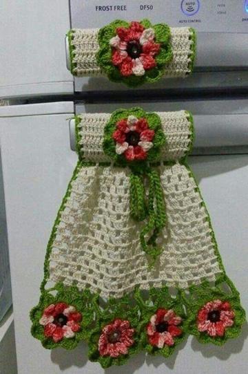 manualidades en crochet para cocina (1)