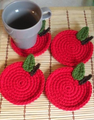 manualidades en crochet para cocina tapetes