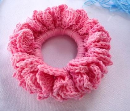moñeras tejidas a crochet para niñas