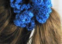 Las moñeras tejidas a crochet para peinados lindos y más