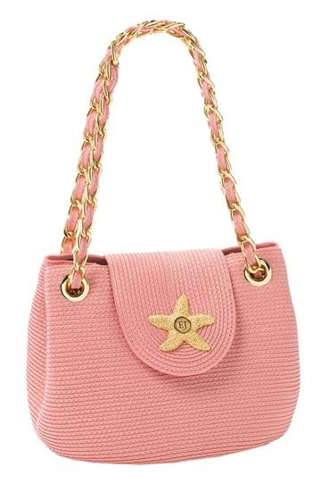 modelos de carteras tejidas color rosa