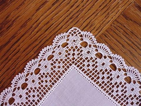 orillas a crochet para manteles blancos