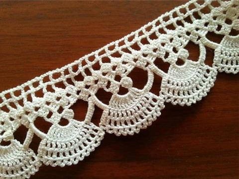 orillas a crochet para manteles vintage