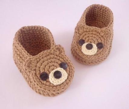 pantuflas a crochet para niños de animales