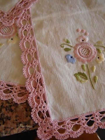 puntas para servilletas de una vuelta decoradas