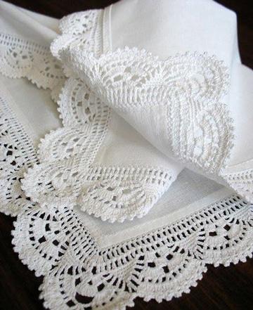 puntas para servilletas de una vuelta faciles