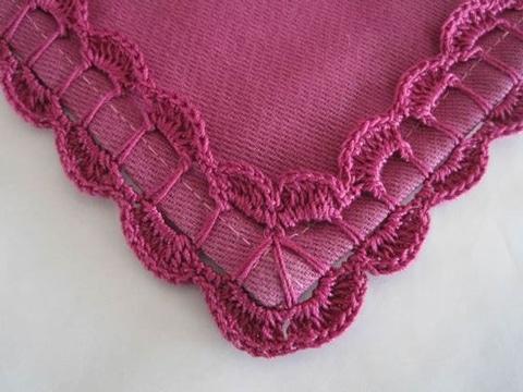 puntas para servilletas de una vuelta modelo sencillo