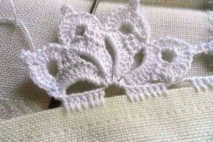 Unas puntas para servilletas de una vuelta que antojan