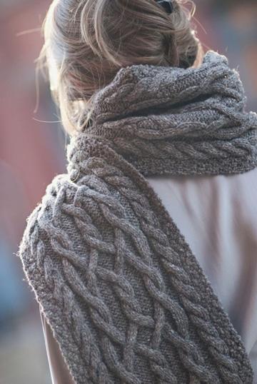 puntos de crochet para bufandas con trenzas