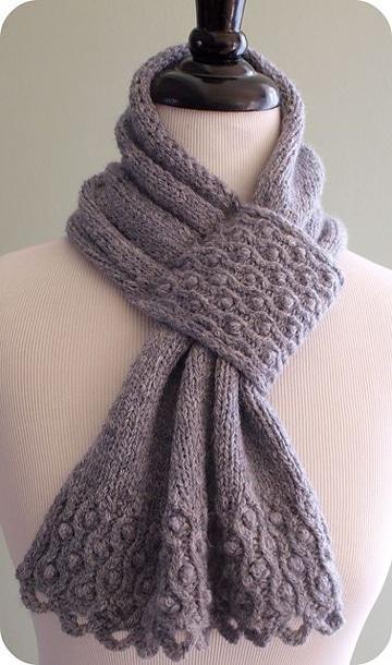 puntos de crochet para bufandas femeninas